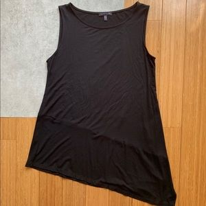 Eileen Fisher Asymmetrical Hem Black Tank Top